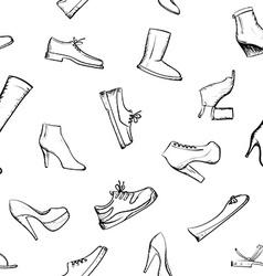 Doodle footwear Stock vector image