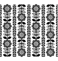 Finnish-folk-art-pattern-seamless-1-monochrome vector