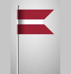 Flag of latvia national flag on flagpole vector