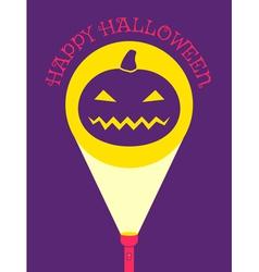 flashlight pumpkin vector image