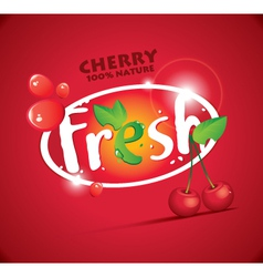 Fresh cherries vector