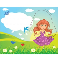 girl playing vector image vector image