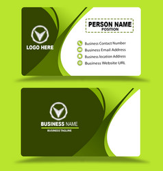 Green multi color business card template psd vector