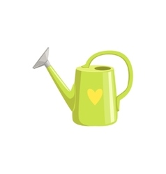 Green Watering Can With Heart Print vector