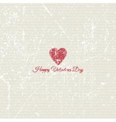 grunge valentines day background 1701 vector image