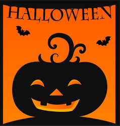 halloween card template with jack-o-lantern vector image