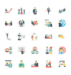 human resources and management icons 11 vector image