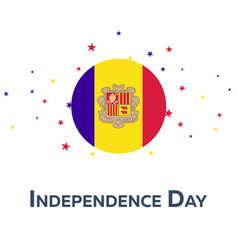 Independence day of andorra patriotic banner vector