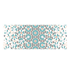 Islamic arabic geometric decor traditional vector