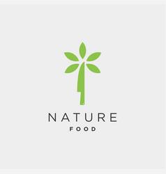 knife nature food equipment simple flat logo vector image
