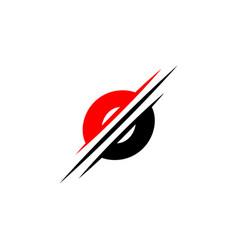letter o logo graphic elegant and unique sliced vector image