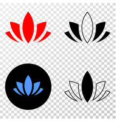 lotus eps icon with contour version vector image