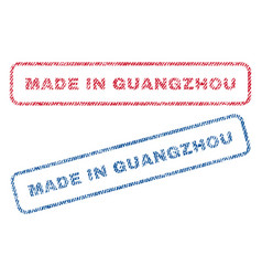 Made in guangzhou textile stamps vector