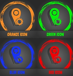 Map pointer setting icon sign fashionable modern vector