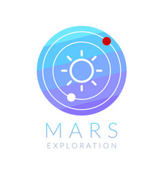 mars exploration vector image