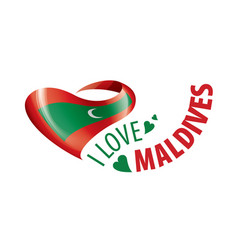 National flag maldives in shape vector