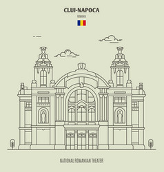 National romanian theater in cluj napoca vector