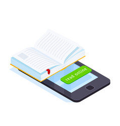 Online book isometric concept vector