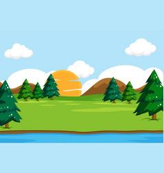 Outdoor nature background scene vector