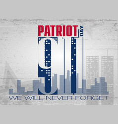 Patriot day lettering vector