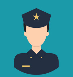 police characte icon great of character use for vector image