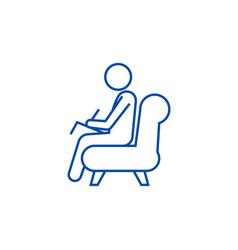 psychologistconsultant line icon concept vector image