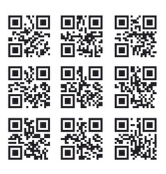 Qr code set square product barcode label vector