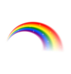 realistic rainbow isolated on white background vector image