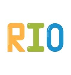 Rio olympic logo vector image