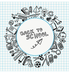 School supplies drawn vector