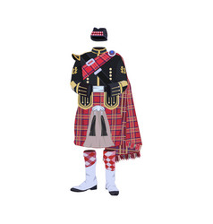 Scottish traditional clothing vector