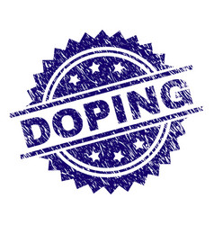 Scratched textured doping stamp seal vector