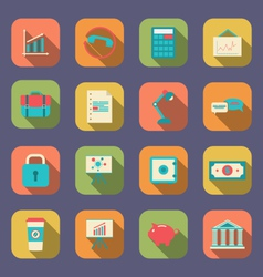 Set flat icons web design objects business vector