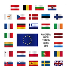 Set od European Union country flags vector image