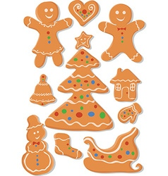 Set of Christmas Cookies vector