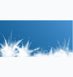 snow powder white explosion down border banner vector image