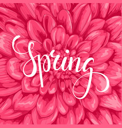 Spring hand drawn calligraphy and brush pen vector