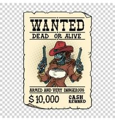 Steampunk female robot bandit wild West Western vector image