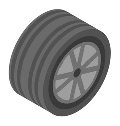 summer car wheel icon isometric style vector image
