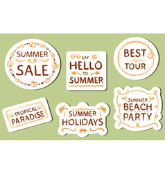 Summer tags vector