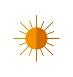 Sun abstract sky circle orange icon vector