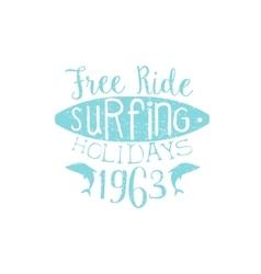 Surfing Holidays Vintage Emblem vector