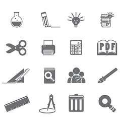 Tools learning icon set 5 vector