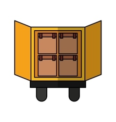 Truck delivery vehicle icon vector