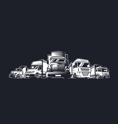 Truck logo cargo delivery vector
