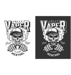 Vintage monochrome vaping label vector