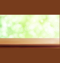 Wood table top abstract morning sunlight vector