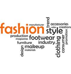 Word cloud fashion vector