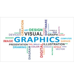 word cloud graphics vector image