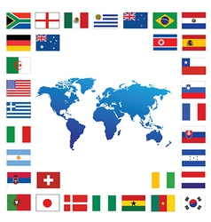 World atlas map vector image